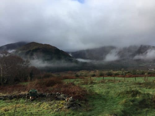 Mist over de Caha Mountains