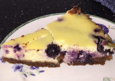 bosbessencheesecake